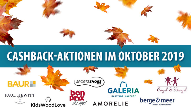 Cashback-Aktionen im Oktober 2019